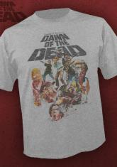 DAWN OF THE DEAD - COLLAGE (HEATHER GRAY) [GUYS SHIRT]