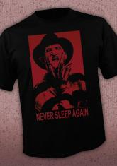 NIGHTMARE ON ELM STREET - NEVER SLEEP AGAIN DISCONTINUED - LIMITED QUANTITIES AVAILABLE [MENS SHIRT]