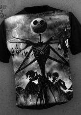 NIGHTMARE BEFORE CHRISTMAS - SHADOWS [FULL FRONT PRINT SHIRT]